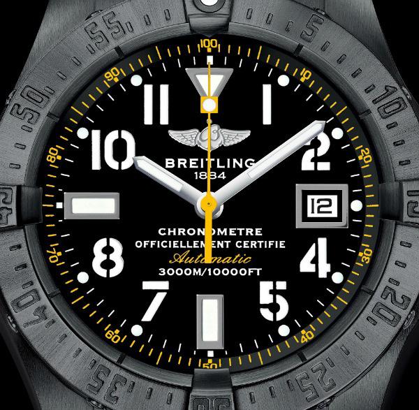black dial copy Breitling Avenger Seawolf