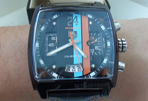 Black Dial Tag Heuer Monaco 24 Replica Watch
