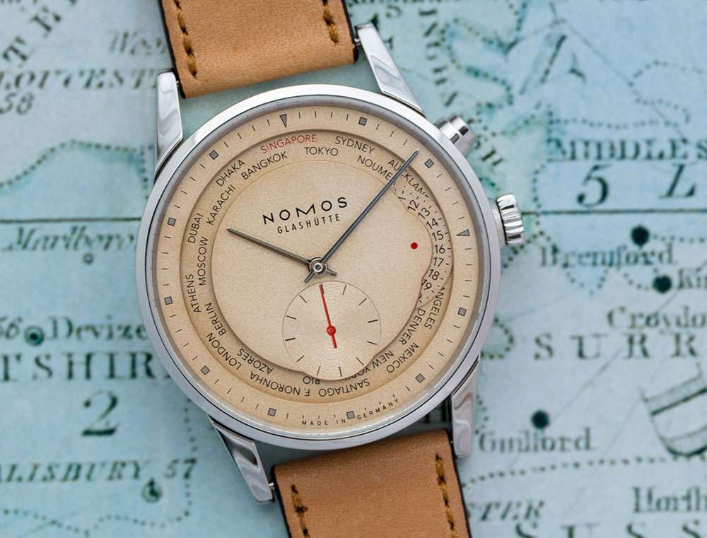 Nomos 'Red Dot' Limited Edition Zürich Weltzeit Watch For Singapore Watch Releases